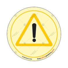 Danger Photo luminescent signs in Round