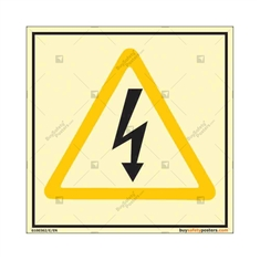 Danger Electric Auto Glow Sign in Square
