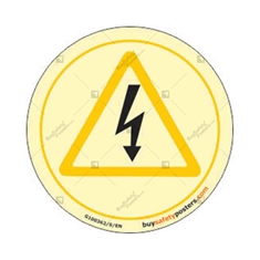 Danger Electric Auto Glow Sign in Round