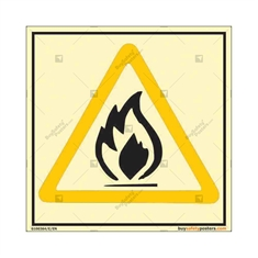 Flammable Photo luminescent signs in Square