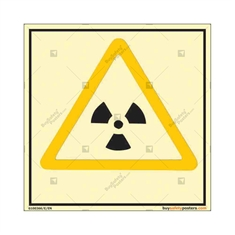 Radiation Photo luminescent signs in Square