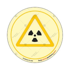 Biological Hazard Glow in Dark Sign in Round