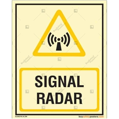 Signal Radar Glow Sign in Portrait