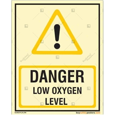 Autoglow Low Oxygen Danger Sign in Portrait