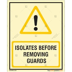 Isolate before removing the Guard Glow in dark sign in Portrait