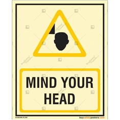 Mind Your Head with Glow in the dark Sign in Portrait