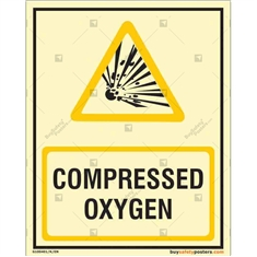 Compressed Oxygen Auto Glow Sign in Portrait