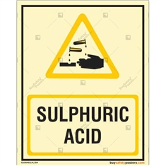 Sulphuric Acid Glow in the dark Sign in Portrait