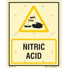 Nitric Acid Auto Glow Sign in Portrait
