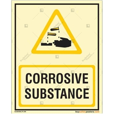 Corrosive Substance Auto Glow Sign in Portrait