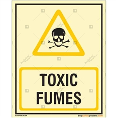 Toxic Fumes Glow in the dark Sign in Portrait