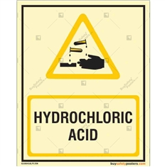Hydrochloric Acid Photo luminescent signs  in Portrait