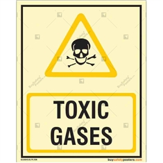 Toxic Gases Glow in the dark Sign in Portrait