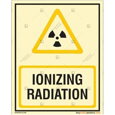 Ioniszing Radiation Auto Glow Sign in Portrait