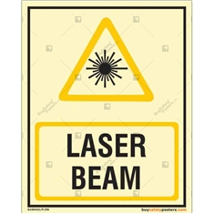 Laser Beam Glow in the dark Sign  in Portrait