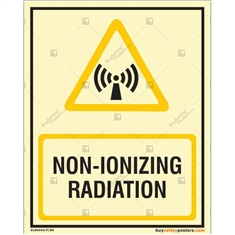 Non - Ionizing Radiation Glowing Sign in Portrait