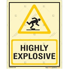 Highly Explosive Glowing Sign in Portrait