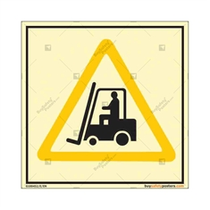Forklift in Use Auto Glow Sign in Square