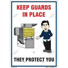 Machine Guard Safety Poster