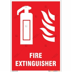 Fire Extinguisher Sign in Portrait