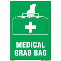 Medical First Aid Kit Sign in Portrait