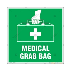 Medical First Aid Kit Sign in Sqaure