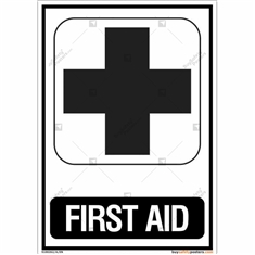 First Aid Signs in Portrait