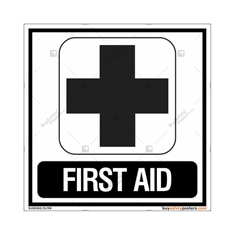 First Aid Signs in Square
