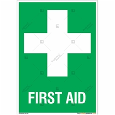 First Aid Safety Signs in Portrait
