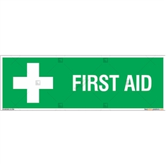 First Aid Safety Signs in Rectangle