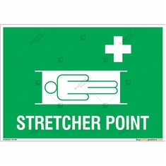 Stretcher Point Sign in Landscape