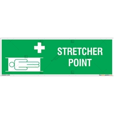 Stretcher Point  Sign in Rectangle