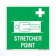 Stretcher Point Signs in Square