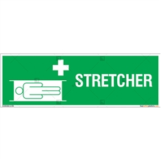 Stretcher Sign in Rectangle