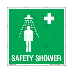 Safety Shower Sign in Sqaure