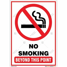 No smoking Sign for your facility smoke free in Portrait Shape