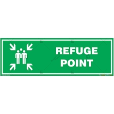 Refuge Point Sign in Rectangle