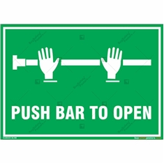 Push Bar to Open Sign in Landscape