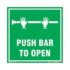 Push Bar to Open Sign in Square