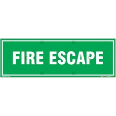 Fire Escape Sign in Rectangle