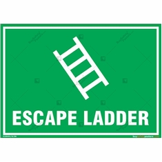 Escape Ladder Sign in Landscape