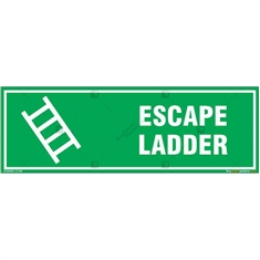 Escape Ladder Sign in Rectangle