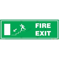 Fire Exit Signs in Rectangle
