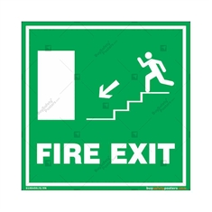 Fire Exit Signs in Square