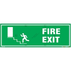 Fire Exit Sign in Rectangle