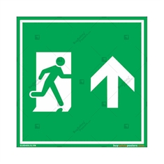 Straight Exit Sign in Square