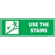 Use The Stairs Signs in Rectangle