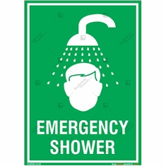 Emergency Shower Sign in Portrait