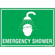 Emergency Shower Sign in Landscape
