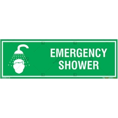 Emergency Shower Sign in Rectangle